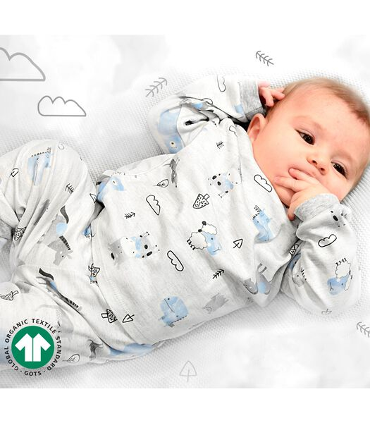 Pyjama bébé 2 pièces en coton bio, ANIMAUX