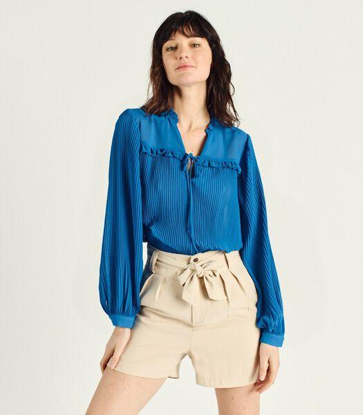 CHANA lange mouw V-hals blouse