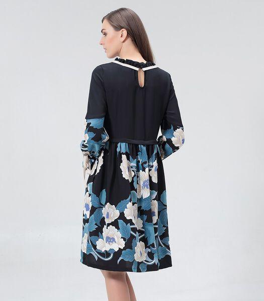 Halflange blousejurk met bloemenprint