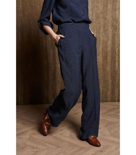 Pantalon en bleu foncé avec des jambes de pantalon large