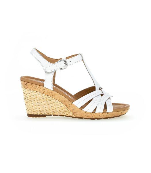 Sandales blanc en cuir